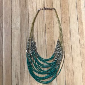 Modcloth Green and Gold Necklace